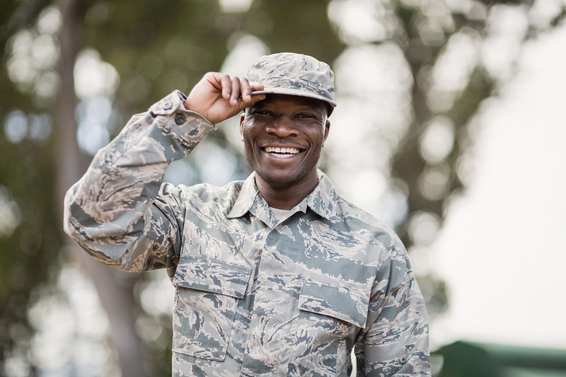 Man in a military uniform.