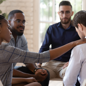 group therapy as part of addiction treatment inpatient program