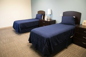 patient bedroom at the recovery village columbus drug and alcohol rehab